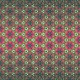 Teste padrão sem emenda do vetor do ombre boêmio do caleidoscope do estilo em verde, no rosa e na cor alaranjada Textura para a W ilustração stock