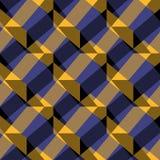 Teste padrão sem emenda do vetor do ornamento Ornamento colorido do yelllow, o preto e o roxo Imagem de Stock