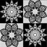Teste padrão sem emenda do vetor do papel de parede floral dos estilos Foto de Stock Royalty Free