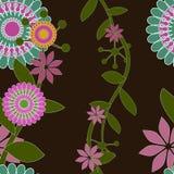 Teste padrão sem emenda do vetor do papel de parede floral do redemoinho Fotos de Stock Royalty Free