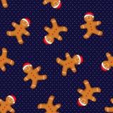 Teste padrão sem emenda do vetor para o dia de ano novo, o Natal, o feriado de inverno, o cozimento, a véspera de Ano Novo, o ali Fotos de Stock