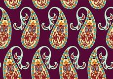Teste padrão sem emenda do vetor para o molde do projeto Decoração ornamentado do vintage Elemento oriental do estilo Decoração o Imagens de Stock Royalty Free