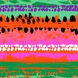 Teste padrão sem emenda do vetor pintado à mão Imagens de Stock Royalty Free