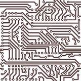 Teste padrão sem emenda do vetor - placa de circuito eletrônico Fotografia de Stock Royalty Free