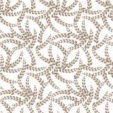 Teste padrão sem emenda do vetor: Plantas do trigo, Gray Colored Twigs claro no fundo branco ilustração royalty free
