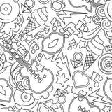 Teste padrão sem emenda do vetor do pop art preto e branco Fundo para ilustração royalty free