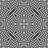 Teste padrão sem emenda do vetor preto e branco Papel de parede abstrato do fundo Ilustração do vetor foto de stock royalty free