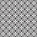 Teste padrão sem emenda do vetor preto e branco, toque do abrtract ilustração stock