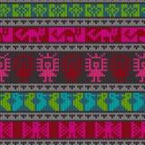 Teste padrão de confecção de malhas andino tradicional Fotografia de Stock Royalty Free