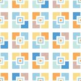 Teste padrão sem emenda do vetor retro das telhas de mosaicos Associação lunática Geo do verão Fundo abstrato de Meados de-século ilustração stock