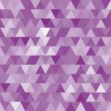 Teste padrão sem emenda do vetor roxo macio com triângulos Fotografia de Stock