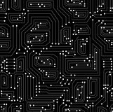 Teste padrão sem emenda do vetor técnico com placa de circuito Imagem de Stock Royalty Free