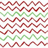 Teste padrão sem emenda do vetor do ziguezague vermelho e verde fotografia de stock