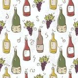 Teste padrão sem emenda do vinho Imagens de Stock