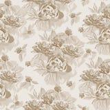 Teste padrão sem emenda do vintage com o ornamento floral útil como o backgrou Fotografia de Stock