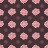 Teste padrão sem emenda do vintage com rosas cor-de-rosa Ilustração Royalty Free
