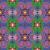 Teste padrão sem emenda do vintage da geometria, estilo étnico Imagens de Stock Royalty Free
