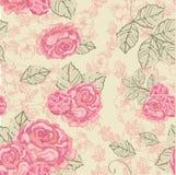 Teste padrão sem emenda do vintage de Rosa ilustração stock