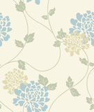 Teste padrão sem emenda do vintage floral claro Imagens de Stock Royalty Free
