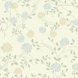 Teste padrão sem emenda do vintage floral claro Fotos de Stock Royalty Free