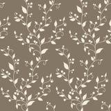 Teste padrão sem emenda do vintage floral do vetor foto de stock