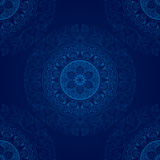 Teste padrão sem emenda do vintage no fundo azul Foto de Stock Royalty Free