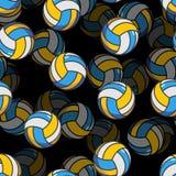 Teste padrão sem emenda do voleibol 3d Ostenta o ornamento acessório Volle Imagem de Stock