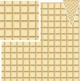 Teste padrão sem emenda do waffle Fotografia de Stock Royalty Free