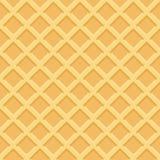 Teste padrão sem emenda do waffle Ilustração do vetor Fotos de Stock Royalty Free