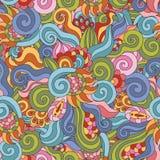 Teste padrão sem emenda do zentangle colorido ilustração royalty free