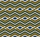 Teste padrão sem emenda do ziguezague geométrico brilhante, simétrico Imagem de Stock
