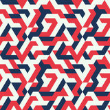Teste padrão sem emenda do ziguezague multicolorido do triângulo ilustração do vetor