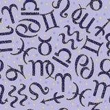 Teste padrão sem emenda do zodíaco Fotografia de Stock Royalty Free