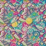 Teste padrão sem emenda doce colorido saboroso do bastão de doces do pirulito Imagem de Stock Royalty Free