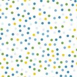 Teste padrão sem emenda dos às bolinhas coloridos no branco 12 Fotografia de Stock