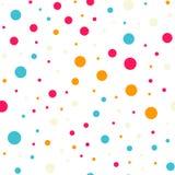 Teste padrão sem emenda dos às bolinhas coloridos no preto 18 Fotografia de Stock