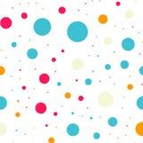 Teste padrão sem emenda dos às bolinhas coloridos no preto 18 Foto de Stock