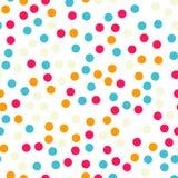 Teste padrão sem emenda dos às bolinhas coloridos no preto 18 Imagens de Stock Royalty Free
