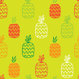 Teste padrão sem emenda dos abacaxis Imagem de Stock