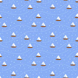 Teste padrão sem emenda dos barcos ilustração stock