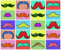 Teste padrão sem emenda dos bigodes Foto de Stock
