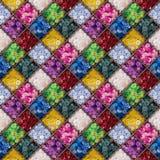 Teste padrão sem emenda dos botões coloridos Imagem de Stock Royalty Free