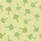 Teste padrão sem emenda dos brócolis Fotografia de Stock