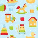Teste padrão sem emenda dos brinquedos Foto de Stock Royalty Free