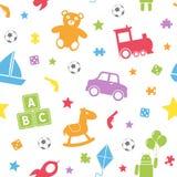 Teste padrão sem emenda dos brinquedos dos miúdos [1] ilustração stock