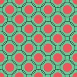 Teste padrão sem emenda dos círculos Fotografia de Stock