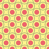 Teste padrão sem emenda dos círculos Foto de Stock