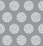 Teste padrão sem emenda dos círculos abstratos do vetor Fotografia de Stock Royalty Free