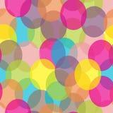 Teste padrão sem emenda dos círculos coloridos do sumário Imagem de Stock Royalty Free