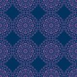 Teste padrão sem emenda dos círculos florais abstratos Foto de Stock Royalty Free